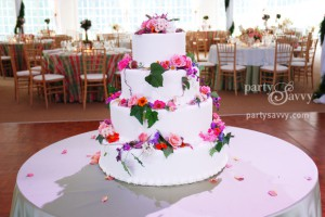 Wedding Cake for Party Savvy Outdoor Wedding Reception