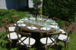 round farm table rental