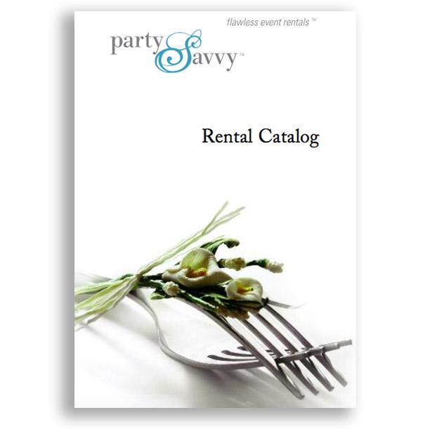 partysavvy rental catalog