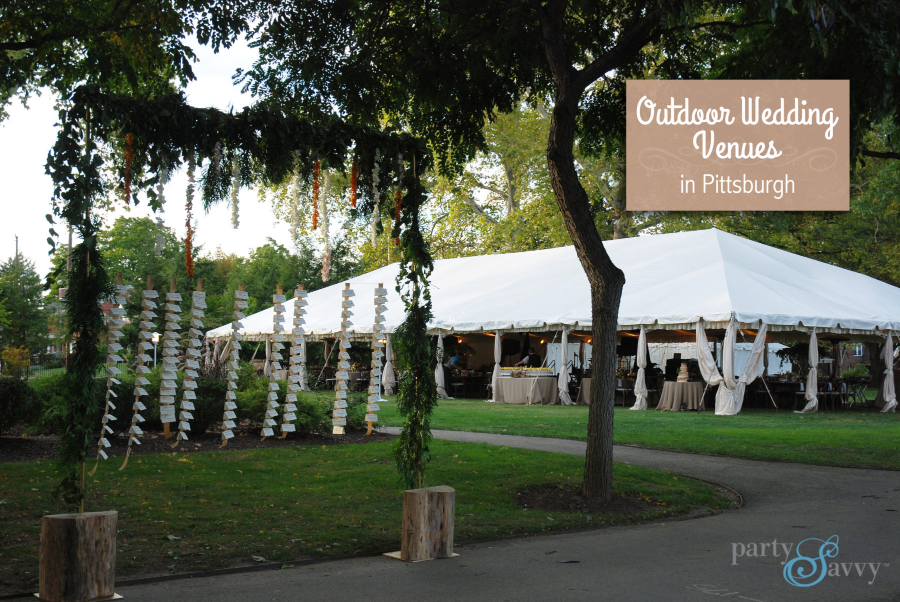 Outdoor wedding venues in Pittsburgh