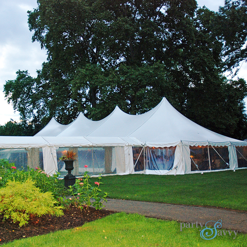Pole Tent Rental, White Tent Rental | PartySavvy
