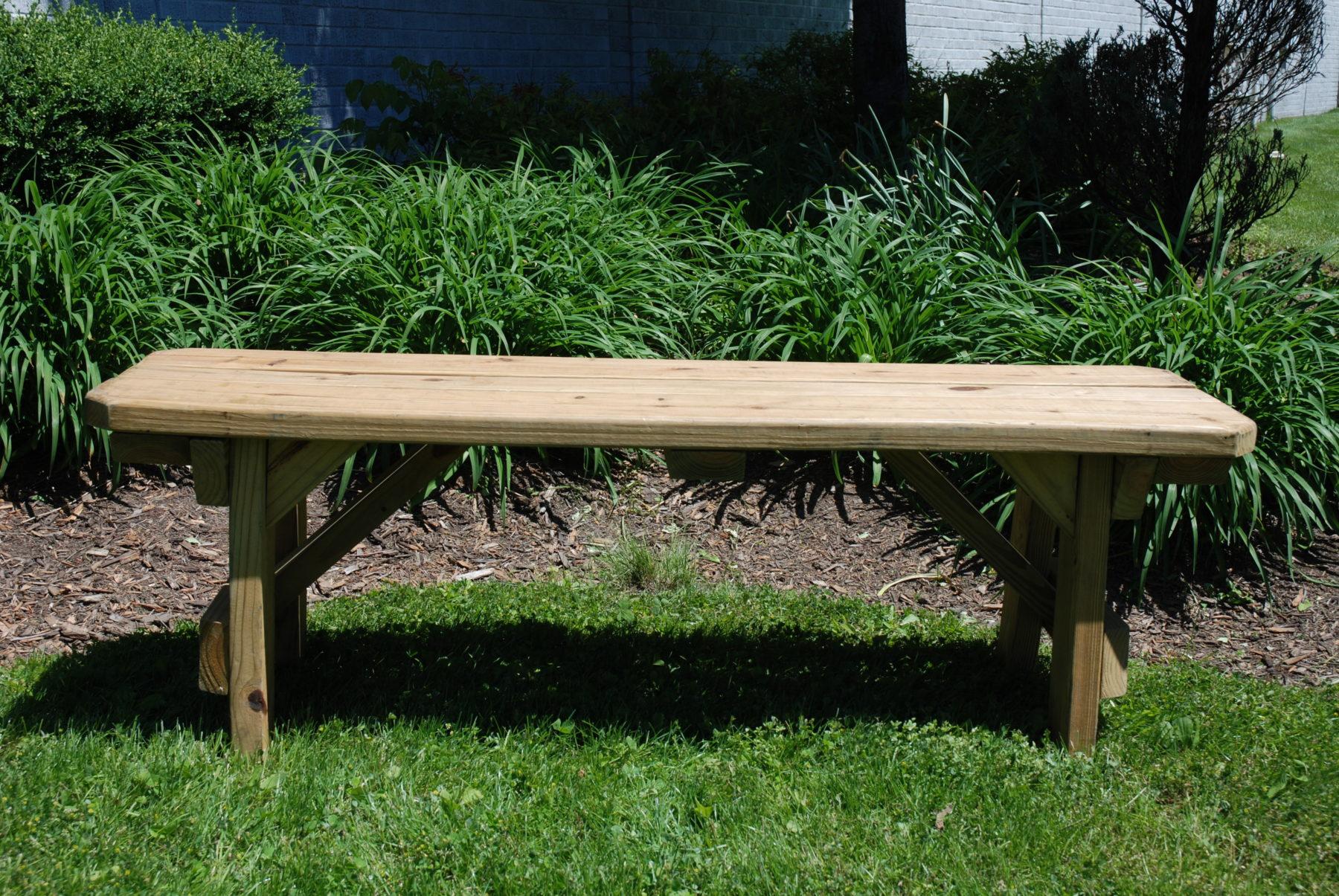 54 Quot Natural Wooden Bench Rentals Rustic Wedding Rental