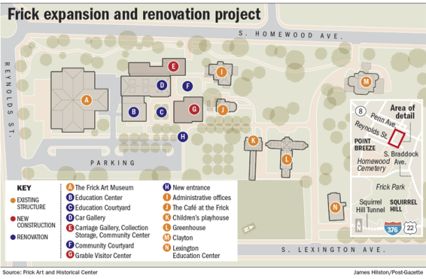 the frick expansion map pittsburgh post gazette