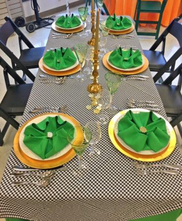 green clover napkin saint patrick's day table