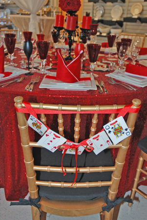 valentine decorations chair
