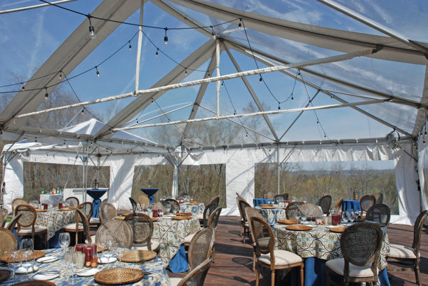 dinner party clear top tent