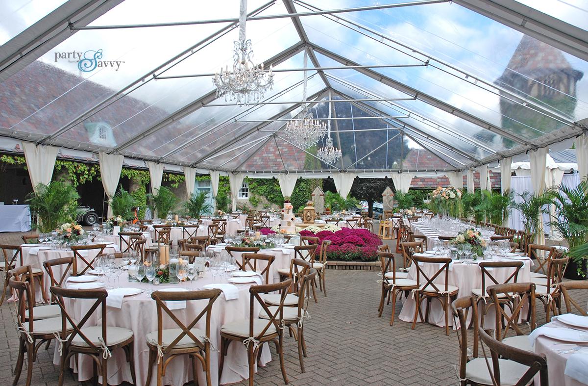 farm chairs wedding reception