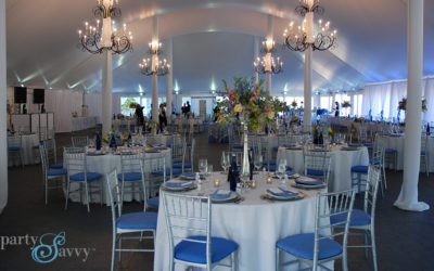 Blue & White Tented Wedding on Family Property